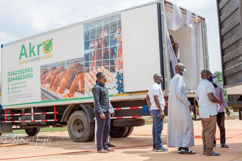 Akro Farms donates COVID-19 relief items to Akwapim North District
